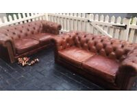 Chesterfield sofas 2 x 2 seaters