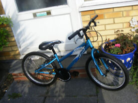 "GIRLS 20"" WHEEL BIKE IN GREAT WORKING ORDER AGE 7+"