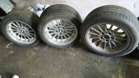 Bmw e39 staggared set 17 wheels