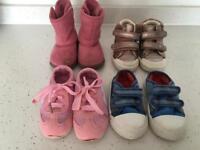 Baby girl shoes bundle size 5