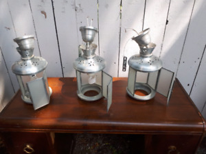 Stainless Steel Hanging Lamps.