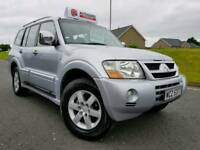 (FACELIFT) 2004 Mitsubishi Shogun 3.2 Di-d 4x4 Elegance Automatic 7 Seater! SAT-NAV! FULL LEATHER!