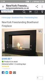 NewYork Freestanding Bioethanol Fireplace with 40litres of fuel