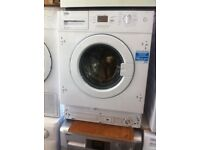 8kg BEKO **NEW** built in washing machine PRP £389 integrated washing machine warranty included