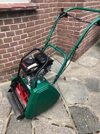 Petrol cylinder lawn mower.