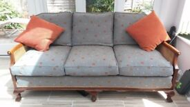 Bergere style three seat sofa from Brights of Nettlebed