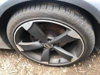 Audi vw seat 19 inch alloys rotor black edition with nearly new tyres