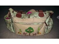 Pink linings twin changing bag