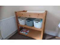 Solid pine changing table