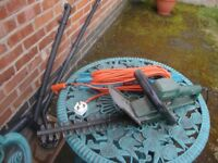garden shers and extension cable