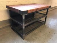 Tv unit/industrial/steel/wood/made to measure