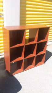 Solid Wood Cube Shelf **Delivery Included**