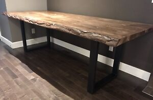 8' Live Edge Dining Table
