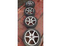 "17""alloys wheels £100ono"