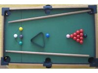 Table Top Snooker/Billiard game