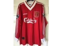 Liverpool 1995 Match Worn Robbie Fowler shirt.