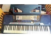 "Yamaha PSR-540 Electric Keyboard Piano with 3.5"" Disc Drive and all accessories"