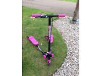 Pink and Black Flicker Scooter
