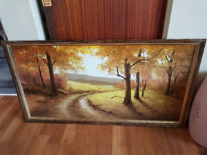 Large Landscape Painting - 24 Inches by 48 Inches