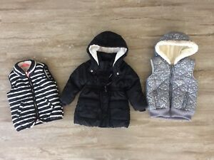 Girls 2T winter jacket and vest