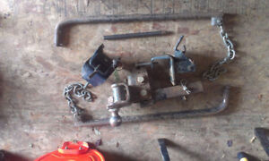 travel trailer stabilizer bars, hitch, snipe, and attachments