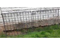 2 Wrought iron gates / driveway gates / garden gates / metal gates / steel gates /double house gates