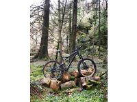 "Haibike Heet 7.10 MTB. 27.5"" wheels, 160mm travel, originally £3300."