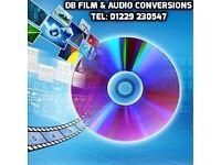 DB FILM & AUDIO CONVERSIONS, Tel: 01229 230547