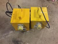 2 x 110v transformers