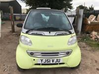 2001 SMART CAR PULSE SOFTTOUCH 0.6 SEMI AUTO SPARES OR REPAIR