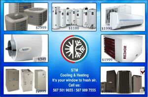 Furnace, AC, Humidifier, Garage Heater, HWT, Boiler, Termostat.