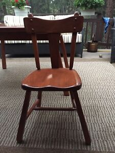 1950s SolidMaple Retro Dining Table, Chairs, Hutch