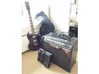 Guitar, Amp, Footpedal and accessories