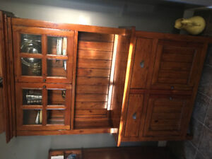 Buffet/hutch, large dining table with 6 chairs