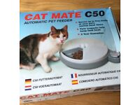 CatMate C50 Automatic Pet Feeder 5 meals - timer/ chilled £15 (RRP £50