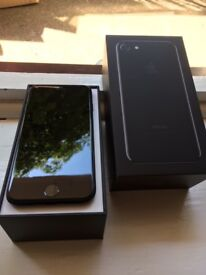 iPHONE 7 128GB JET BLACK UNLOCKED MINT CONDITION BOXED