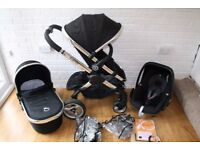 iCandy Peach 2 pram travel system with car seat 3 in 1 - Black Magic CAN POST