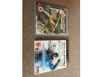 Uncharted and Red Faction (Playstation 3 Games)