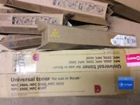 Ricoh toner cartridges for sale. Leftover office supplies.