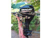 Mercury 20HP 4 stroke outboard engine F20MLH, as new & under warranty