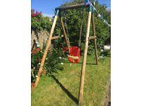 Plum garden swing