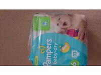 Pampers Baby-dry size 6 pack of 33 nappies