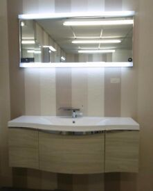 Ex Display. Roper Rhodes Serif 1200 Vanity unit & LED Mirror Complete.