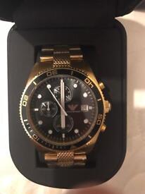 Brand New Mens Gold Emporio Armani Watch