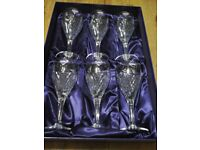 Edinburgh Crystal Beauly Wine Glasses brand new in the box