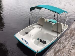 Sun Dolphin Water wheeler pedal boat with canopy