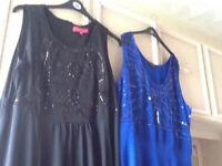 2 stunning beaded dresses for sale