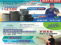 Air Conditioner $1699, Furnace $790,  $2100 Rebates