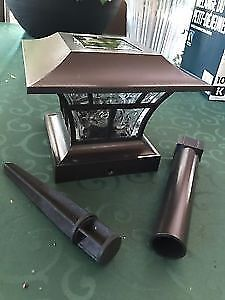 NOMA 12v/Solar Post Cap Lights With Ground Mount Kit! Brand New!