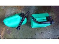2x 5L Unleaded Petrol Can